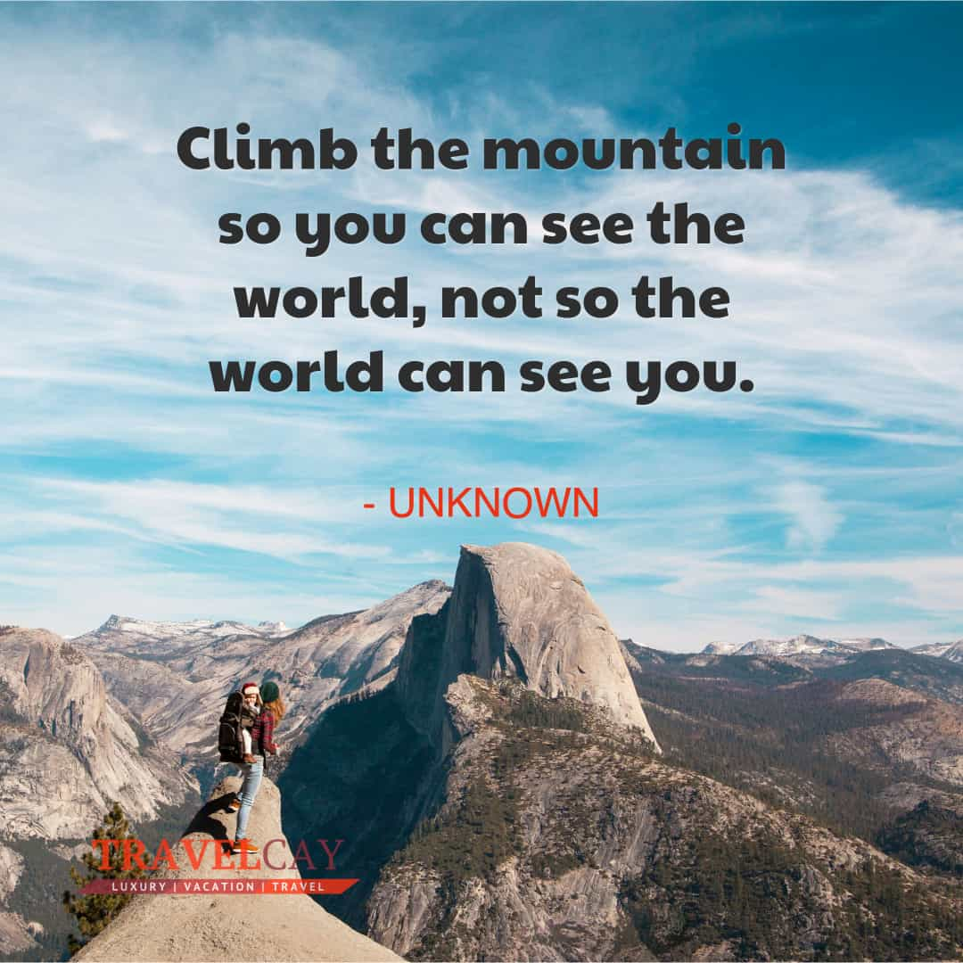 Climb the mountain so you can see the world, not so the world can see you - UNKNOWN 1