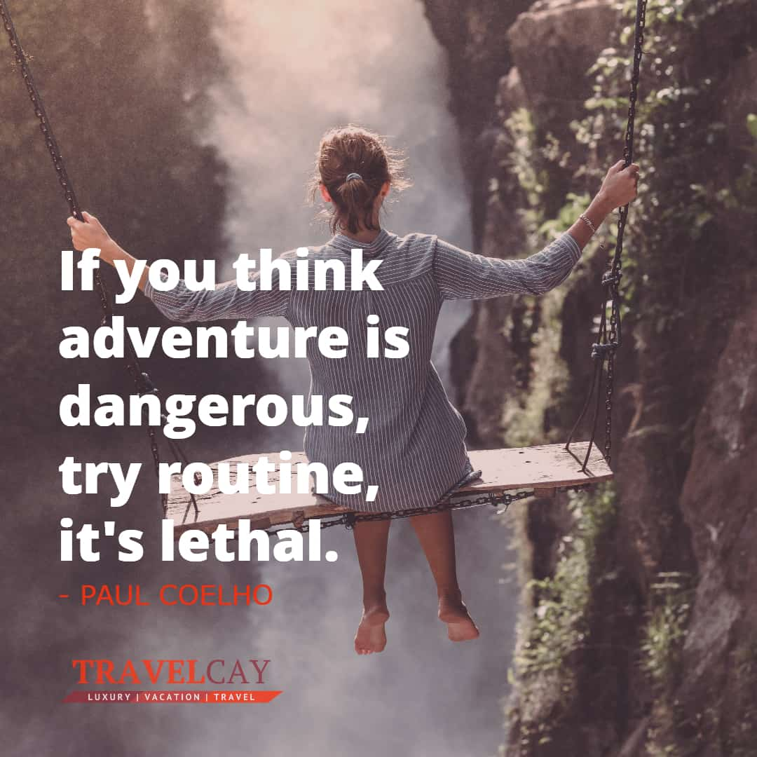 If you think adventure is dangerous, try routine, it's lethal - PAUL COELHO 1
