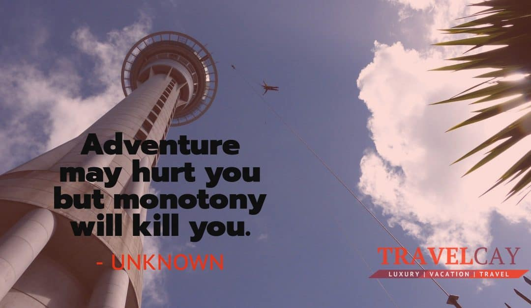 Adventure may hurt you but monotony will kill you – UNKNOWN