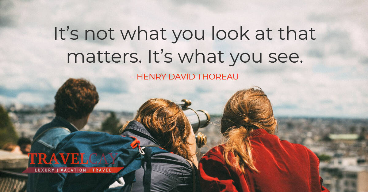 It's not what you look at that matters. It's what you see – HENRY DAVID THOREAU 1