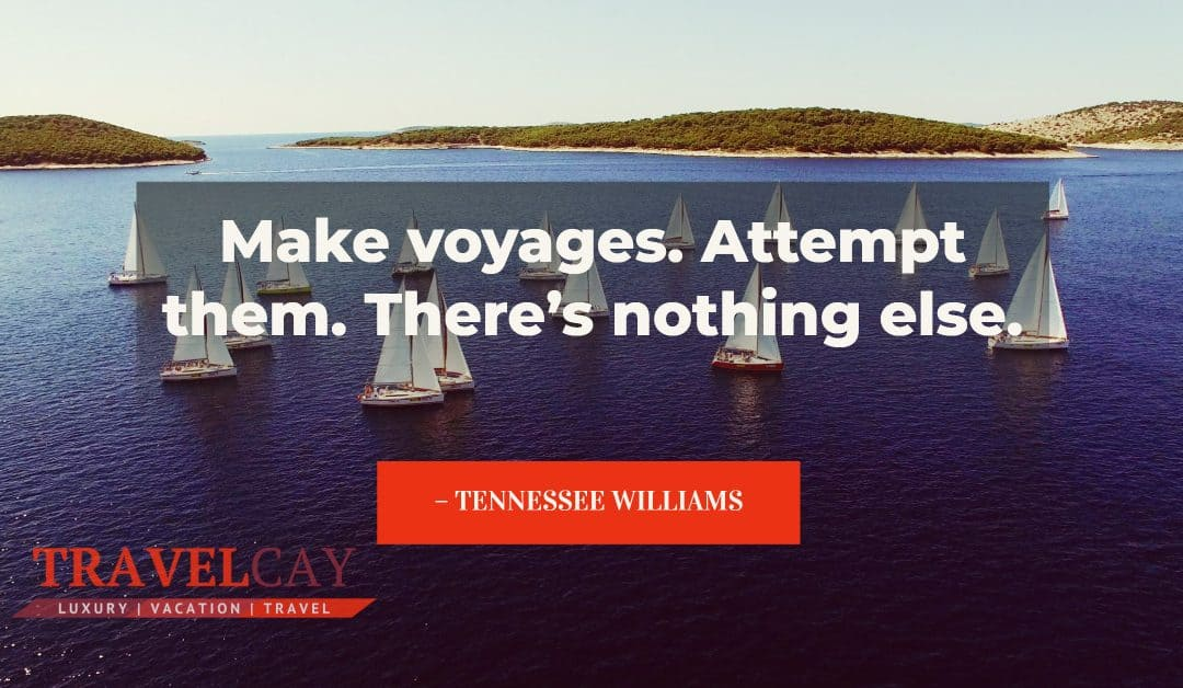 Make voyages. Attempt them. There's nothing else – TENNESSEE WILLIAMS