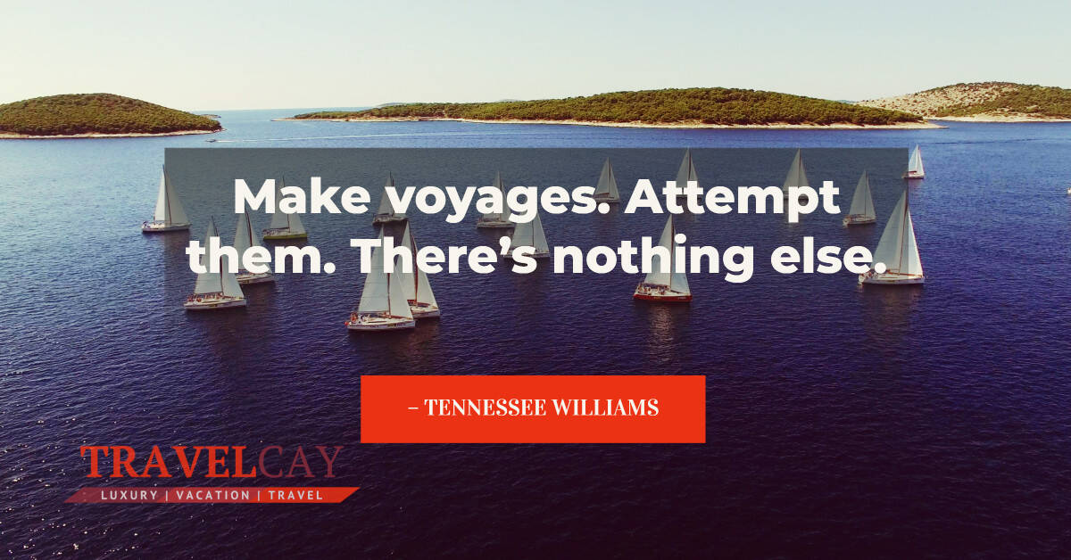 Make voyages. Attempt them. There's nothing else – TENNESSEE WILLIAMS 2
