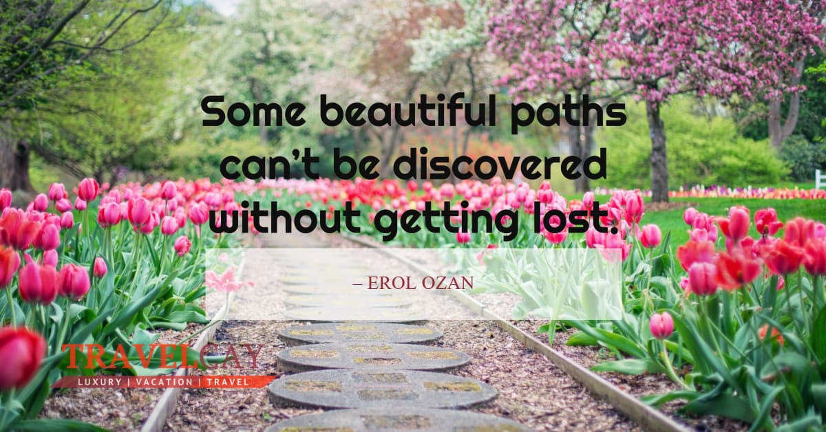 Some beautiful paths can't be discovered without getting lost – EROL OZAN 1
