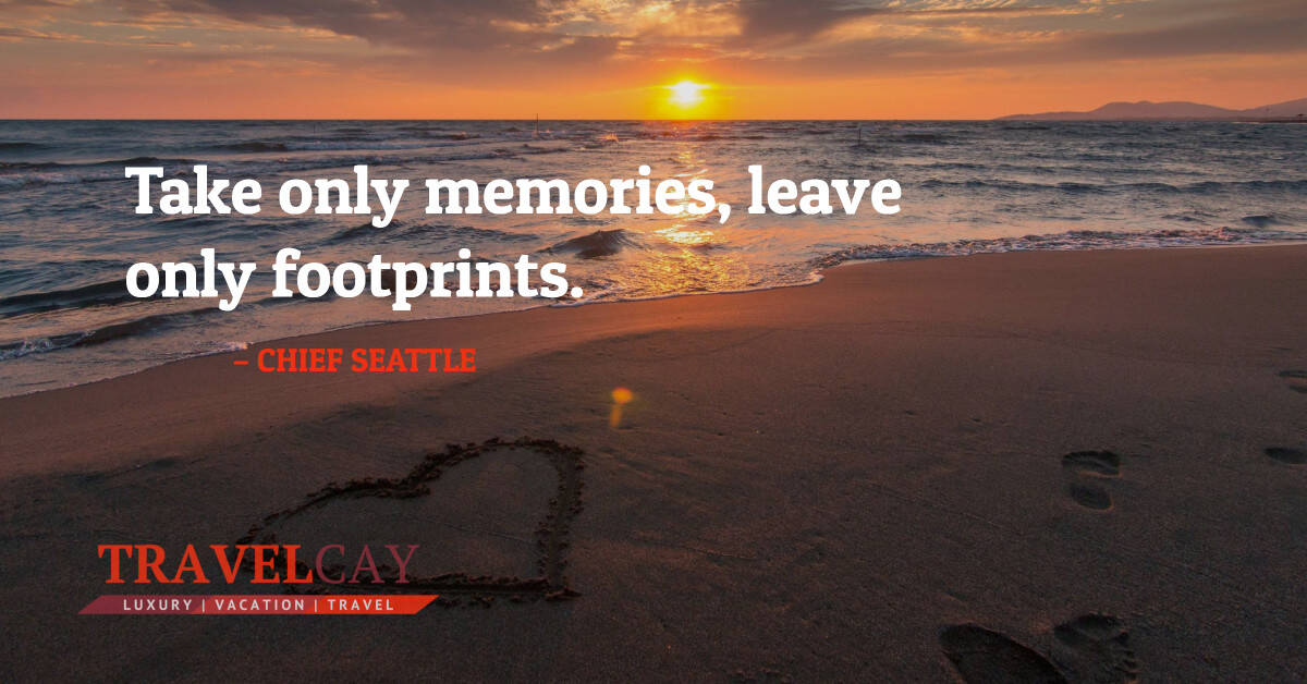Take only memories, leave only footprints – CHIEF SEATTLE 2