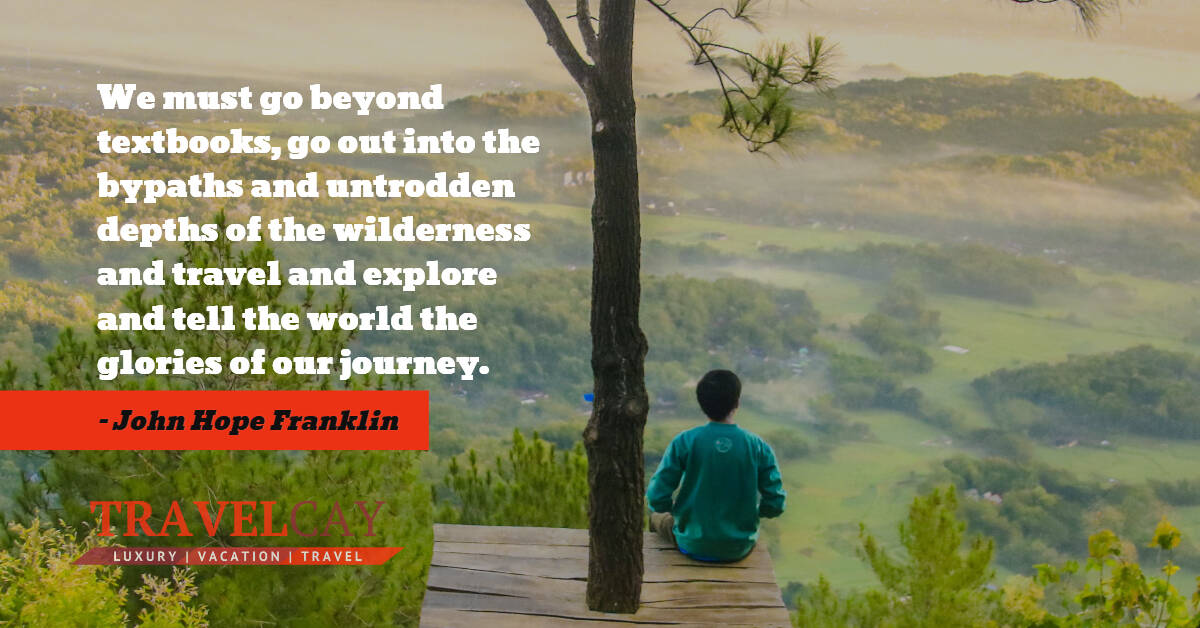 We must go beyond textbooks, go out into the bypaths and untrodden depths of the wilderness and... – John Hope Franklin 1