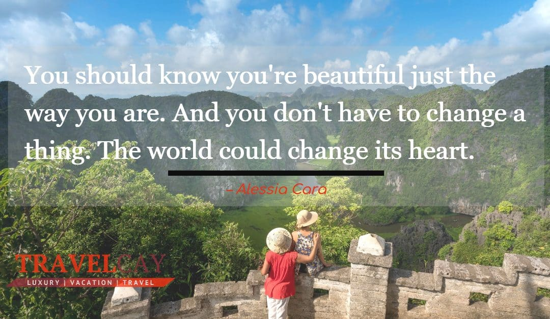 You should know you're beautiful just the way you are. And you don't have to change a thing. The world… – Alessia Cara