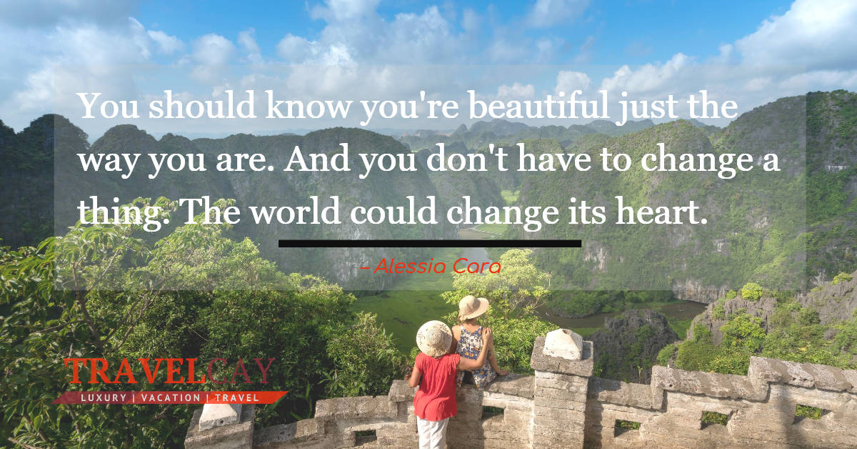 You should know you're beautiful just the way you are. And you don't have to change a thing. The world... – Alessia Cara 2